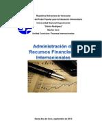 Administracion de Recursos Financieros.