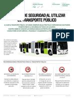 Medidas de seguridad al utilizar el transporte público
