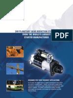 DENSO 24v Planetary Gear Redution Starter Sell Sheet