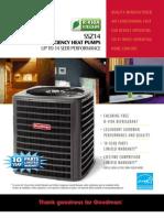 Goodman High Efficiency 14 Seer Heat Pumps SSZ-14 at Younits.com