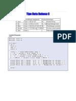 Tipe Data Bahasa C