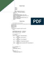 Program Sederhana Tentang Fungsi Dan Array