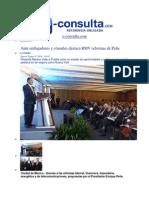 09-01-2014 e-consulta.com - Ante embajadores y cónsules destaca RMV reformas de Peña