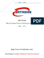 Certinside IBM Lotus Notes Domino 8 Building the Infrastructure Certification 190-848