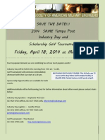 Save the Date for Industry Day and Scholarship Golf Tournament