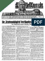 1931 Nr. 24, Die Friedenstätigkeit des Papstes im Weltkriege; Ludendorffs Volkswarte, A3 Format