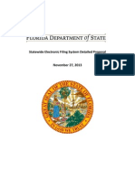 Statewide Electronic Filing System Detailed Proposal - Florida Department of State - November 27, 2013