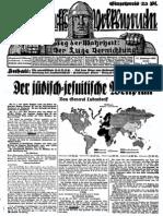 1932 Nr. 2, Der jüdisch-jesuitische Weltplan; Ludendorffs Volkswarte, A3 Format,