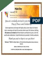 World Hijab Day Invitation