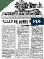 1931 Nr. 10, NSDAP unter päpstlicher Befehlsgewalt; Ludendorffs Volkswarte, A3 Format