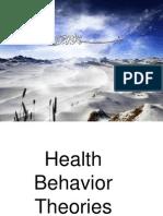Health Behavior Theories