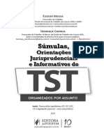 Avulsas - Sumulas, OJ e Informativos - Organizados Por Assunto - 1a Ed