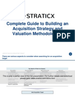 Complete Guide to Building an Acquistion Strategy and Valuation Methodologies