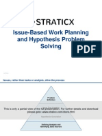 Issue-Based Work Planning and Hypothesis Problem Solving