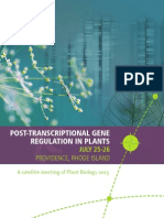 Book of Abstracts of Symposium Post-Transcriptional Gene Regulation in Plants