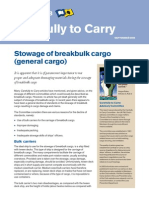 Stowage of Breakbulk Cargo