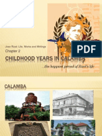 Dr.Jose P. Rizal:Childhood Years in Calamba