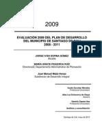 Evaluacion 2009 Plan Desarrollo 2008-2011