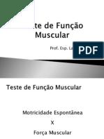 Teste de Função Muscular