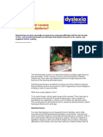 Handout - Causes of Dyslexia