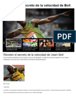 Revelan El Secreto de La Velocidad de Usain Bolt