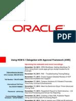 Using HCM 9.1 Delegation With Approval Framework (AWE)