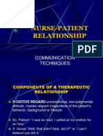 Nurse Patient relationship