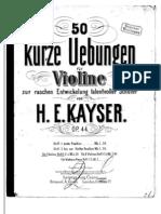 Kayser Violine Op 44