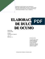 ELABORACIÓN DE DULCE DE OCUMO