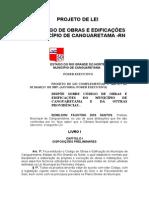 PROJETO DE LEI CÓDIGO DE OBRAS CANGUARETAMA - RN