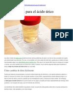 Alimentacion Baja Acido Urico