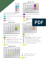 Calendário UNIP 2013_2