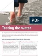 Issues and interests of 16 coastal organisations in Marine Bill - Testing the Water, CoastNet - The Edge Spring 2006