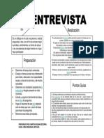 La Entrevista. Diagrama