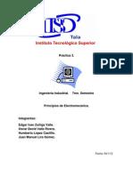 Práctica 3 de Principios de electromecanica