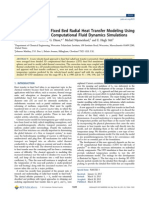 A New Approach to Fixed Bed Radial Heat Transfer Modeling Using Velocity Fields From Computational Fluid Dynamics Simulations