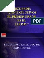 Seguridad en El Uso de Explosivos