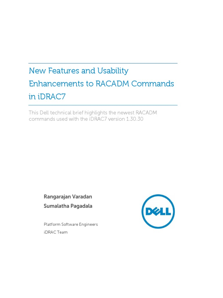 New Features and Usability Enhancements to Racadm Commands
