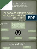 LA TRADICIÓN CONSERVADORA