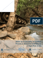 Water as a Casuality of Conflict - Threats to Business and Society in High-Risk Areaas