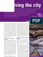 Re-designing of seawalls in favour of intertidal species in and around Sydney Harbour - Surviving the City  - CoastNet The Edge Autumn 2007