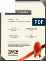 jennifer packet certificate