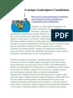 Discurso del cacique Guaicaipuro Cuauhtémoc