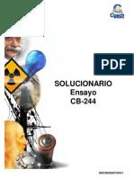 Solucionario Ensayo CB-244 2013