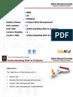 Understanding Risk in Projects