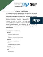 TALLER DE REDACCIÓN II
