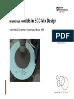 Material Models in SCC Mix Design