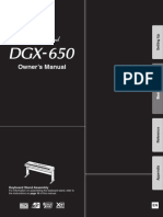 Yamaha DGX-650 Owner's Manual