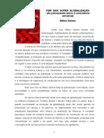 Livro - Por Uma Outra Globalização - Milton Santos