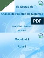 Aula 4 – Análise de Projetos de Sistemas